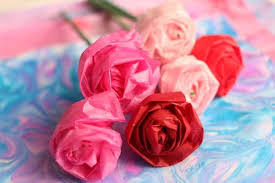 Paper Flower Tissue Paper How To Make A Tissue Paper Rose Happy Hooligans