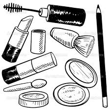 Small Picture Makeup coloring pages to download and print for free