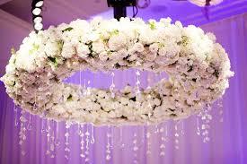 image of flower chandelier earrings