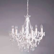 new 6 arms clear crystal droplets pendant lamp chandelier ceiling light e14 candle light