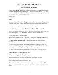 Pleasant Resume Restaurant Cashier Duties For And Responsibilities