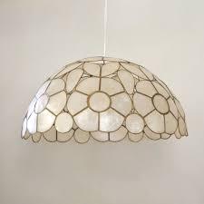 Mid Century Capiz Shell Lamp Shade / Swag by PinkElephantsRetro