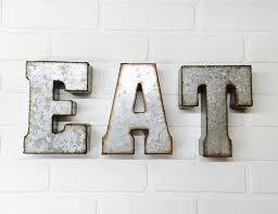 eat wall art letters