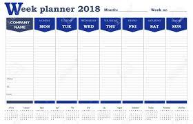 Week Planner 2018 Calendar Schedule And Organizer For Business