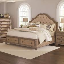 king storage bed. Coaster Furniture Ilana King Storage Bed With Upholstered Headboard In Antique Linen E