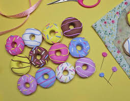 Pattern Weights Cool Set Of 48 Polymer Clay Doughnut Sewing Pattern Weights Fabricate