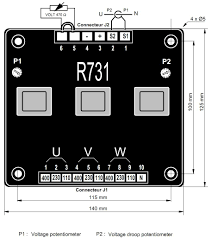 permanent electron co avr sx440 sx460 r448 r230 stamford avr next to the voltage regulator electrical schematics 2 typical wiring schematics are provided the ct for parallel operation on the phase u