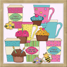 Happy birthday from all your alien friends. Happy Birthday Coffee Clip Art Page 1 Line 17qq Com