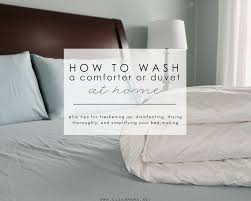 how to wash a comforter or duvet at
