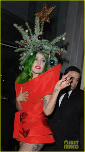 Lady Gaga Dresses as Christmas Tree After Jingle Bell Ball!: Photo 3007985  | Lady