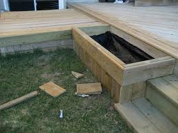 deck garden box. Here Is The Planter Box On Left Side Of Steps. Wood Covered In Top Photo Sandbox. Another \ Deck Garden