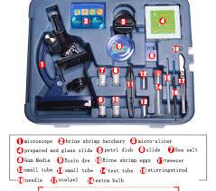 Student <b>Microscope</b> Kit Lab LED1200X Home School Science ...