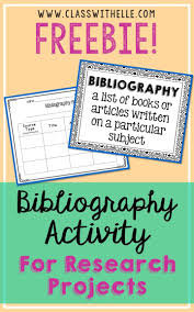 Freebie Bibliography Page And Poster For Research Projects