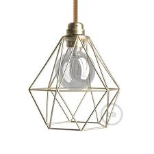 lighting cage. Naked Light Bulb Cage Lampshade Diamond Brass Finished Metal E27 Fitting Lighting H
