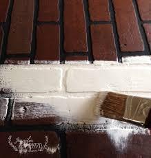 Painting Fake Brick Paneling Fireplace Mantel Archives Jennifer Rizzo