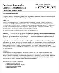 resume for experienced professional functional resumes for experienced professional functional