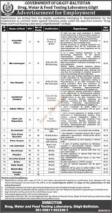 government of gilgit baltistan drug water food testing submit your cv