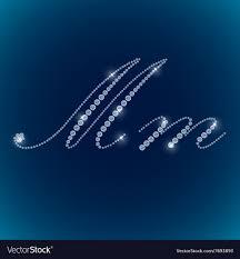 Blue Letters Shiny Diamond Alphabet Letters Blue Background