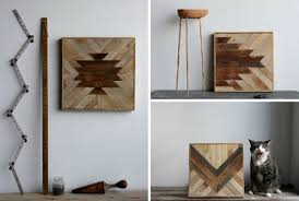 geometric wood panels to decorate your