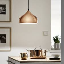 Eglo Hapton Polished Copper Pendant Light Pendant Lighting - Pendant light kitchen