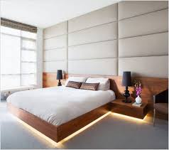 modern platform bed with lights. Modern Bedroom Design Ideas With Cool Floating Bed Frame And White Bedding So Sweet Equipped Led Under The Platform Lights