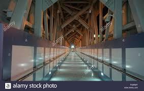 Steel Walkway Design Steel Bridge Walkway With Modern Design And Wonderful Lights