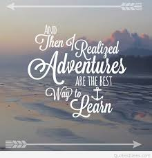 learn adventures pinterest quote with wallpaper