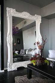 white leaning floor mirror. Glamorous Home Essential: Leaning Floor Mirror White N