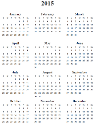 2015 Calendar Yearly Printable Skachaj Info