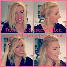 Tutorial 3 Haarstijlen Voor Halflang Haar Bob Blondie Beauty Fashion