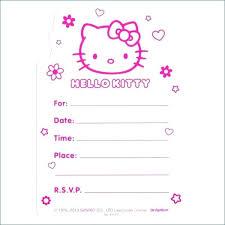 Hello Kitty Invitation Printable Hello Kitty Printable Invitation Hello Kitty Invitations Templates