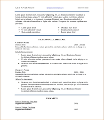 Resume Format Font And Size Professional Resume Templates