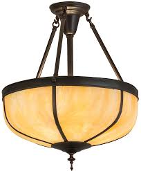 meyda 175323 arts crafts dome reverse craftsman brown pendant lighting loading zoom