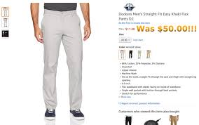 Dockers Mens Straight Fit Easy Khaki Flex Pants D2 Ancient