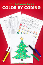 Free downloads for kids #insideoutevent. Christmas Tree Color By Coding Christmas Coloring Page Left Brain Craft Brain