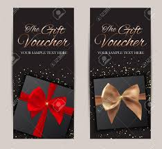 Gift Certificates For Your Business Gift Voucher Template Vector Illustration For Your Business Stock