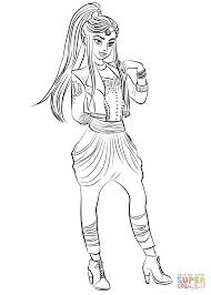 Jordan Coloring Pages Descendants Wicked World Page Free Printable