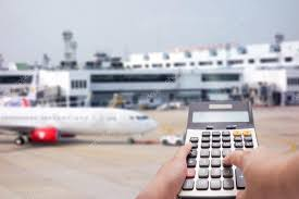 Travel Cost Calculator Travel Cost Calculation Concept By Calculator And Airplane
