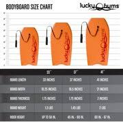 Body Board By Lucky Bums With Eps Core Slick Bottom And Leash For Kids And Adults Orange 41 Inch