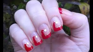 Christmas Hat Nail Design Christmas Nails Santa Hat French Manicure Nail Art Design Step By Step