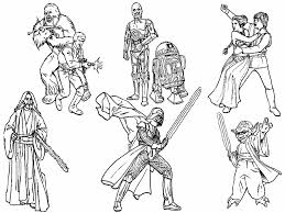 Small Picture 6 Star Wars Characters Free Coloring Page Kids Movies Star