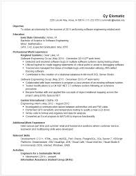 Work Resume Example Cool Example Resumes Engineering Career Services Iowa State University