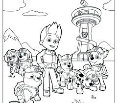 Marshall Paw Patrol Coloring Page Paw Patrol Coloring Pages S S