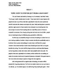 how to stop or quit from a bad habit gcse english marked by page 1 zoom in