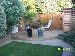 Small Picture Pine decking for the corner of a small garden backyard