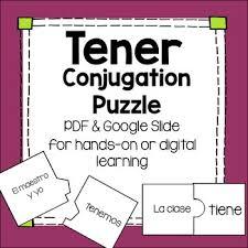 Tener Conjugations Worksheets Teaching Resources Tpt
