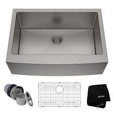 Kraus Standart Pro Farmhouse Apron Front Stainless Steel 30 In