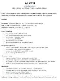 Lifeguard Resume Sample Full Image For Resume Sample High School