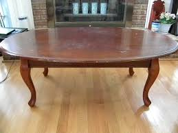 coffee table painted oval coffee table diy milk paint coffee