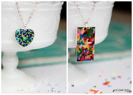 if you re like me you think that you can just put some sprinkles in a pendant tray cover them in clear mod podge and bam necklace